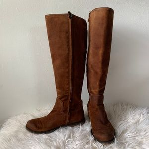 Franco Sarto Brown Suede Tall Boots Size 6M